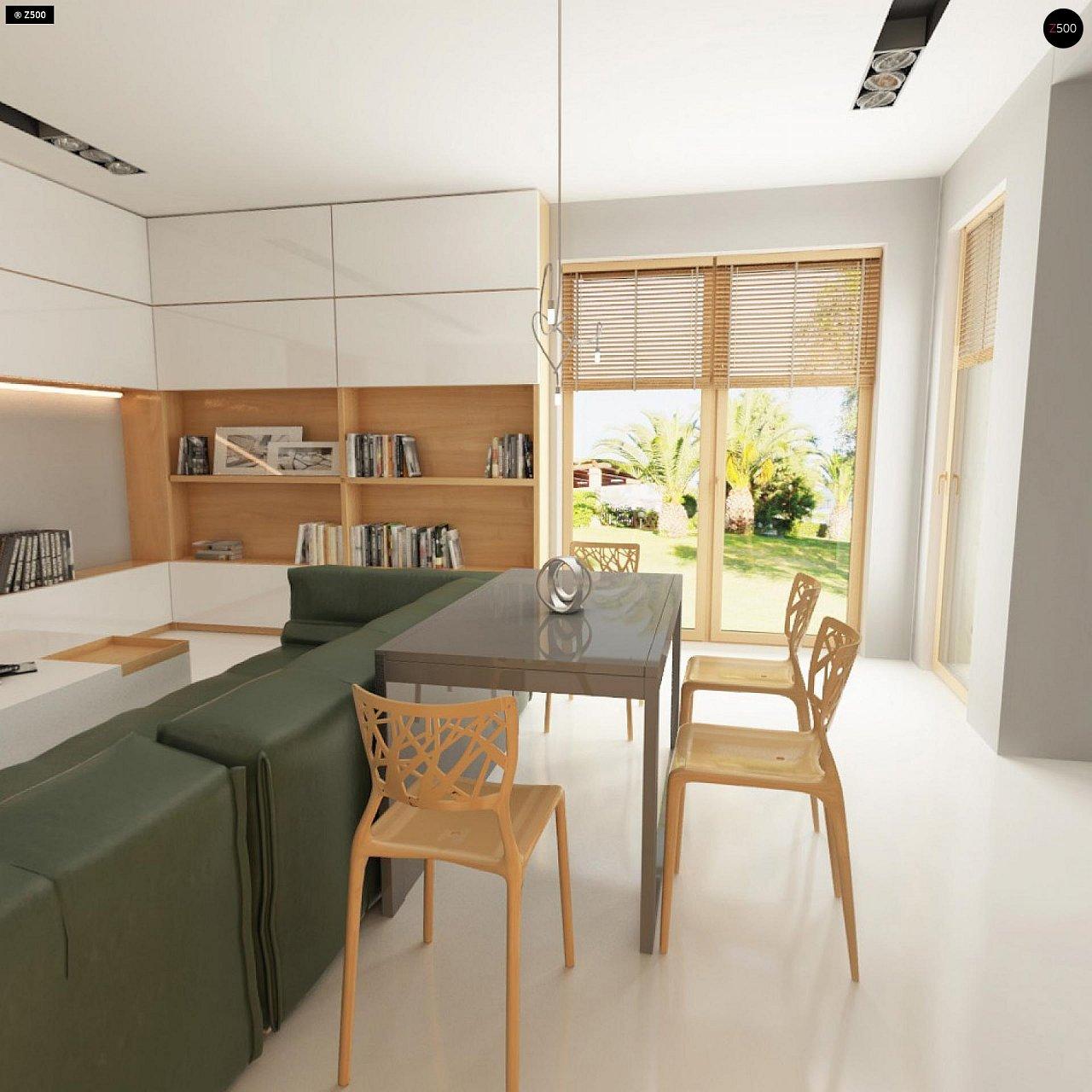Прекрасное сочетание строгих минималистичных форм и уютного практичного интерьера. 10