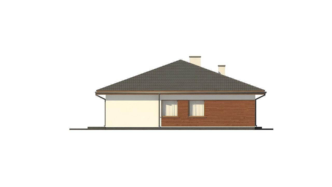 Стильный одноэтажный дом с комфортной крытой террасой 22