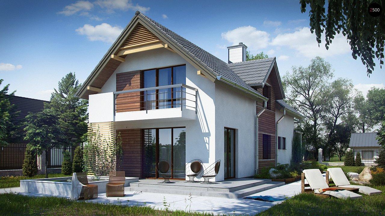Функциональный и привлекательный дом с гаражом для узкого участка. 1