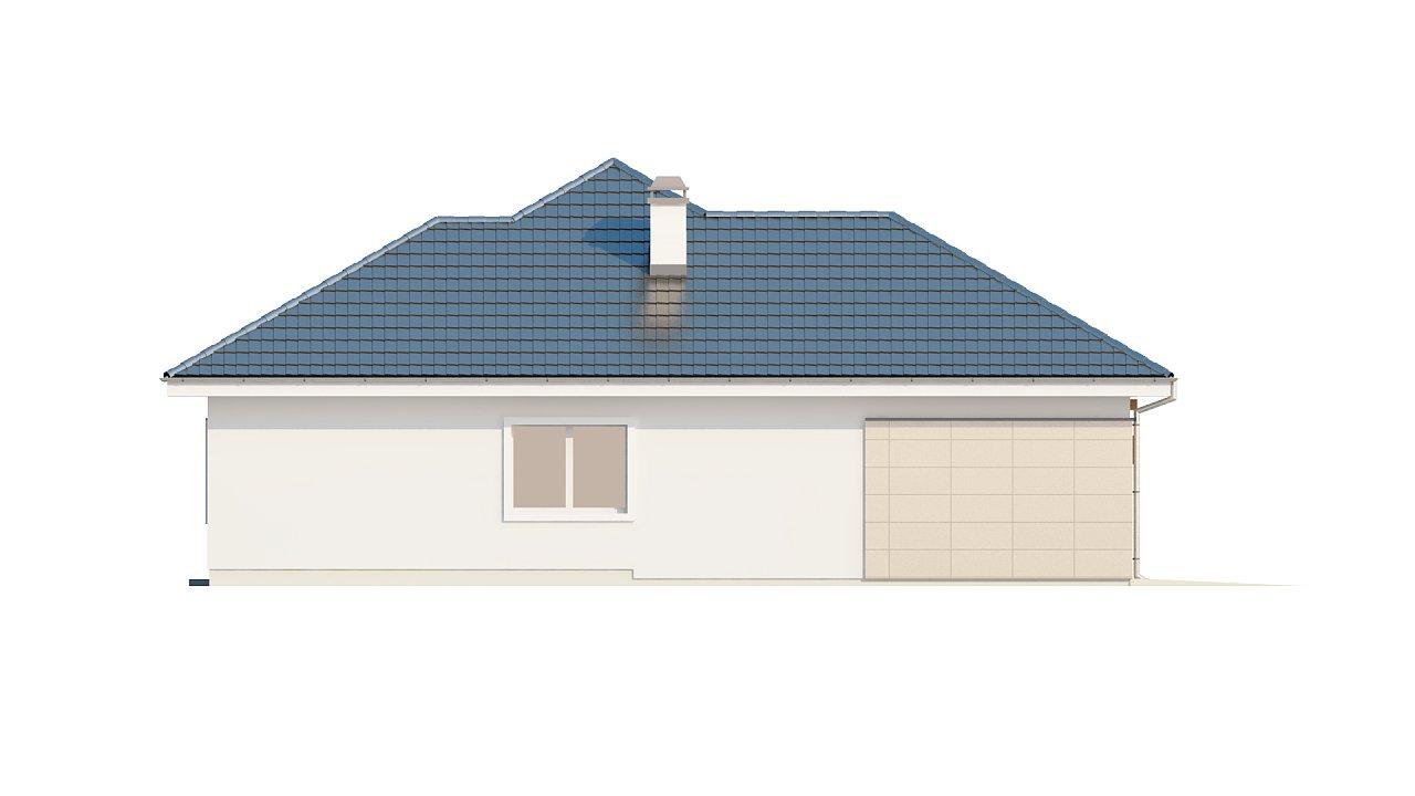 Практичный одноэтажный дом с гаражом для одной машины и возможностью адаптации чердачного помещения. - фото 6