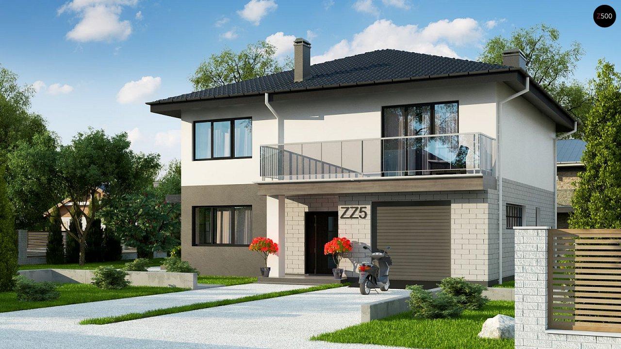 Современный двухэтажный дом с гаражом. 1