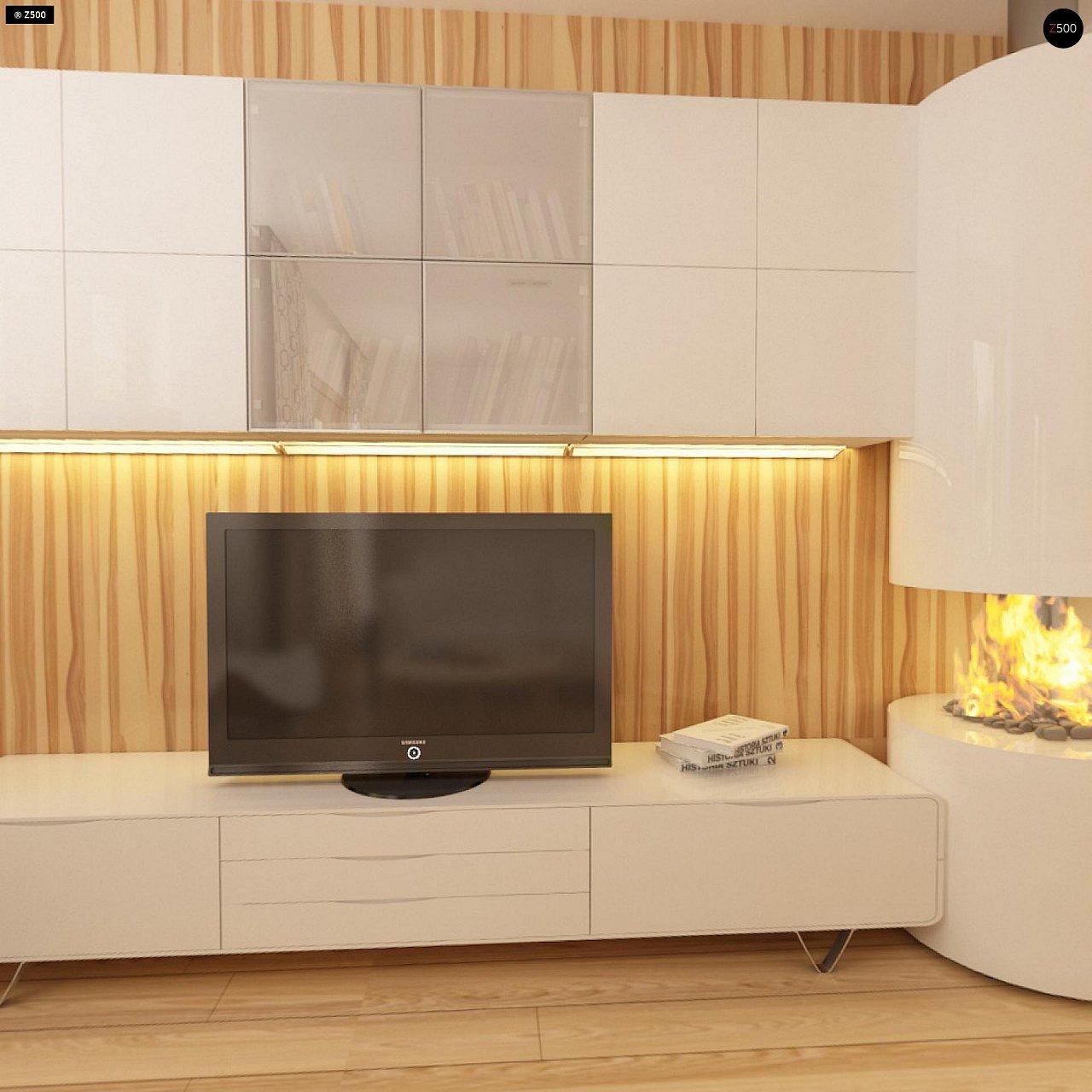Выгодный и простой в строительстве дом с эркером в дневной зоне. 7