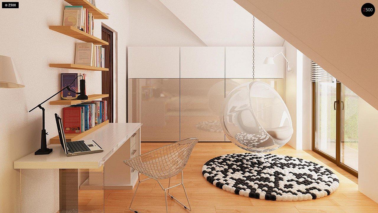 Версия проекта Z270 с альтернативной планировкой мансардного этажа. 15