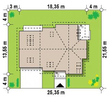 Просторный комфортабельный дом с дополнительной гостиной на втором этаже. план помещений 1