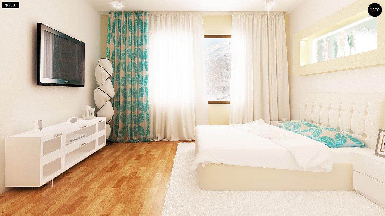 Проект традиционного одноэтажного дома с возможностью обустройства мансарды. 11
