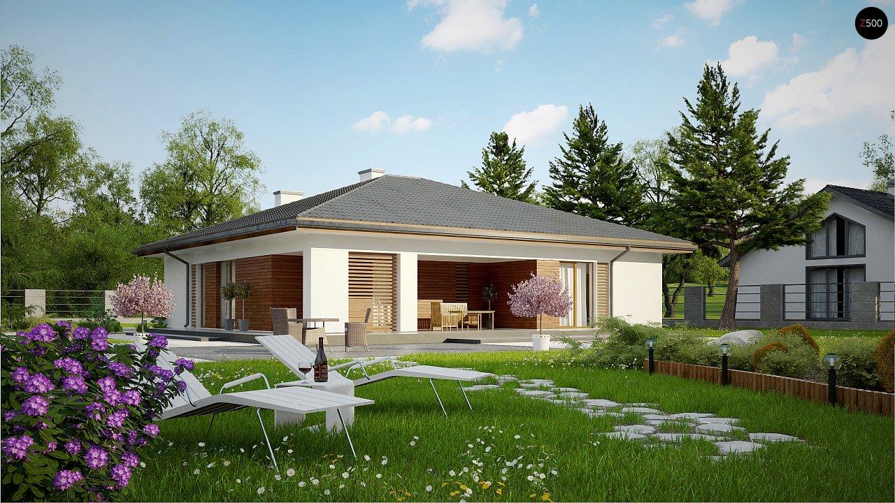 Стильный одноэтажный дом с комфортной крытой террасой 2