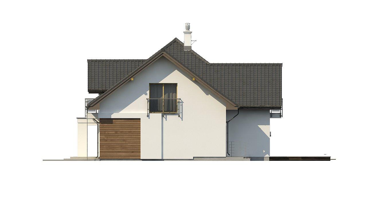 Просторный дом с большими фасадными окнами, с гаражом для двух автомобилей. - фото 6