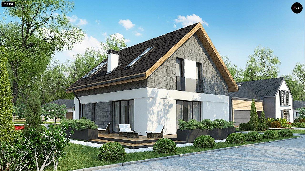 Мансардный дом с гаражом, расположенным с фронтальной стороны фасада - фото 6