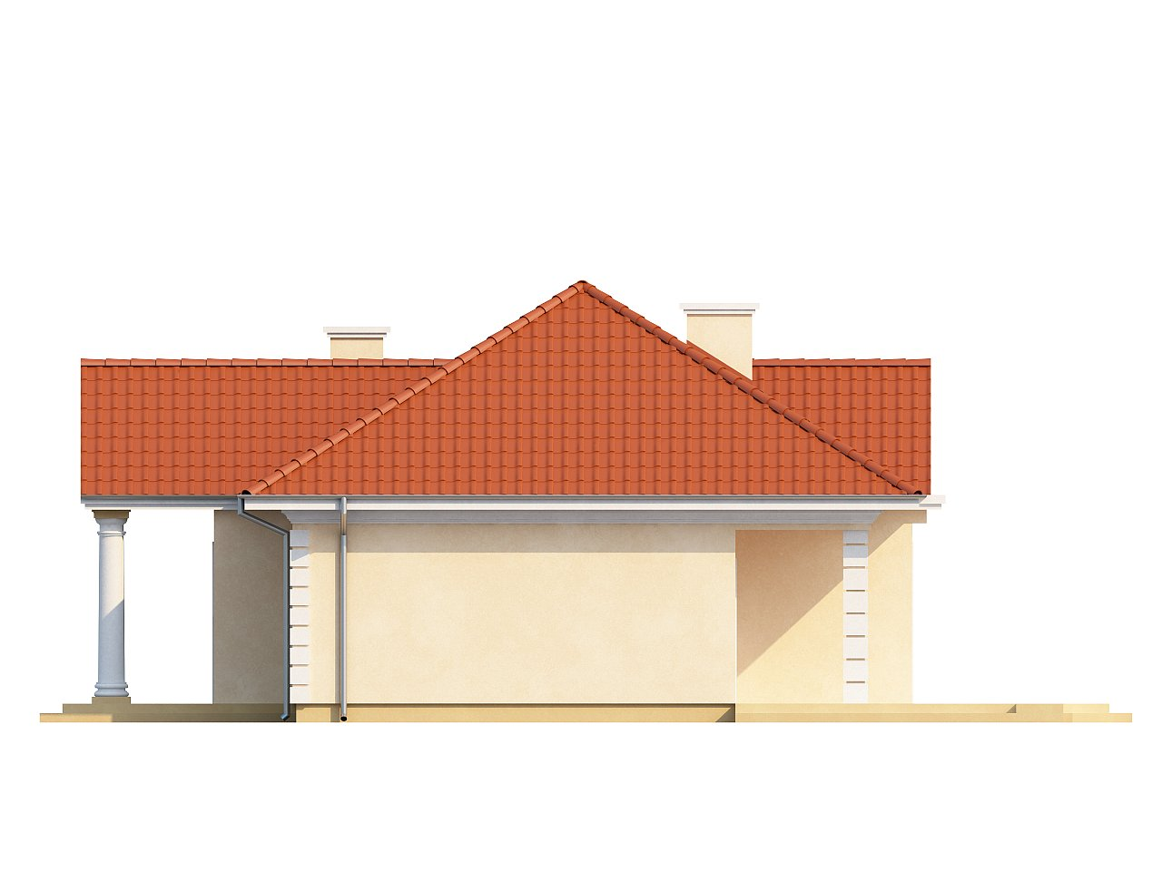 Проект в стиле дворянской усадьбы с возможностью обустройства чердачного помещения. 15