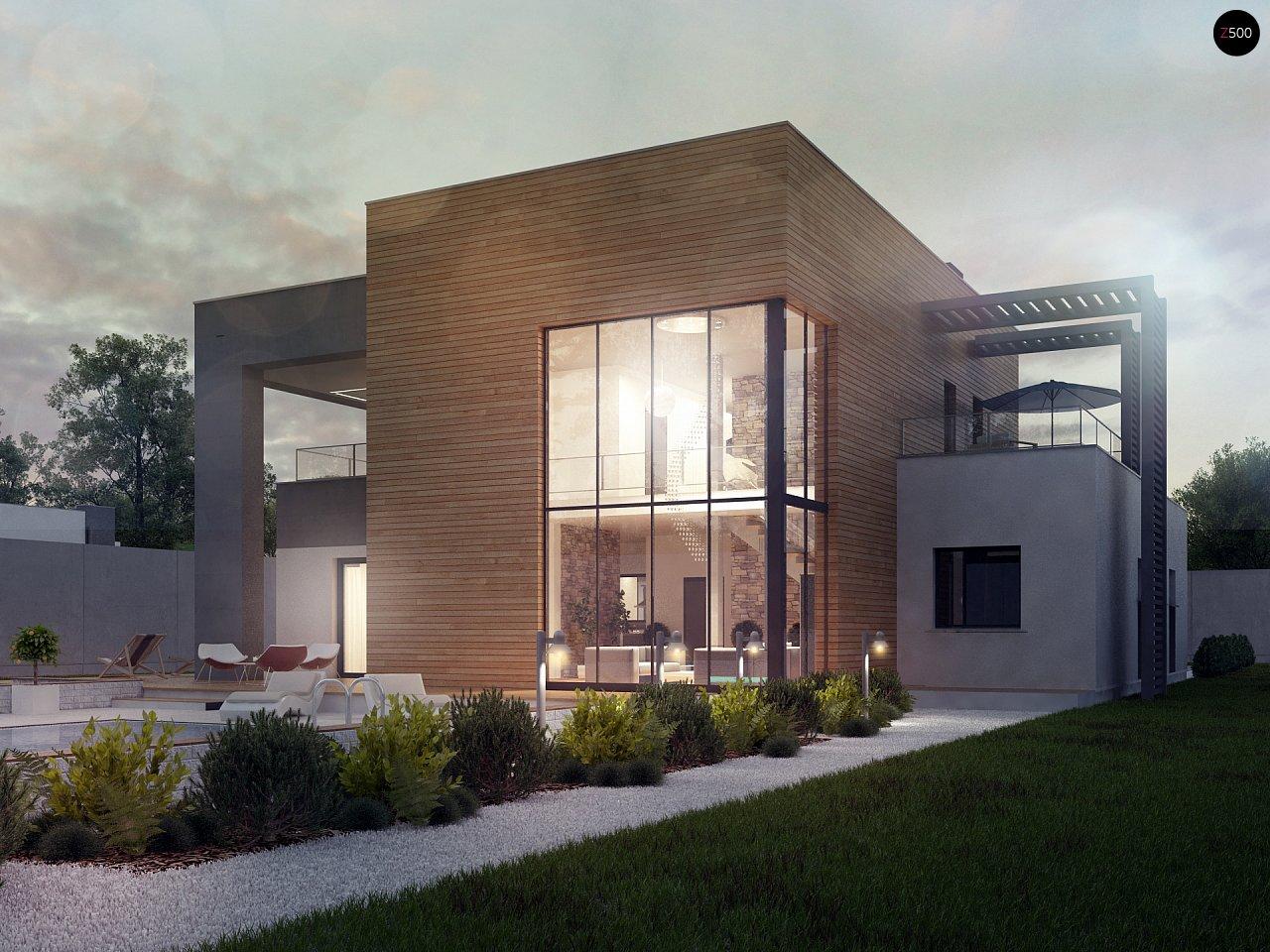 Современный двухэтажный дом с большой площадью остекления. - фото 6