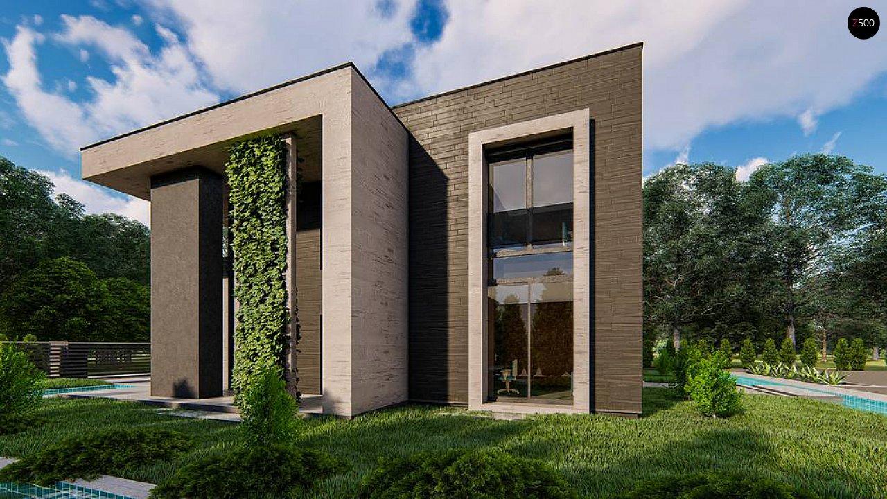 Современный двухэтажный дом с плоской кровлей 8