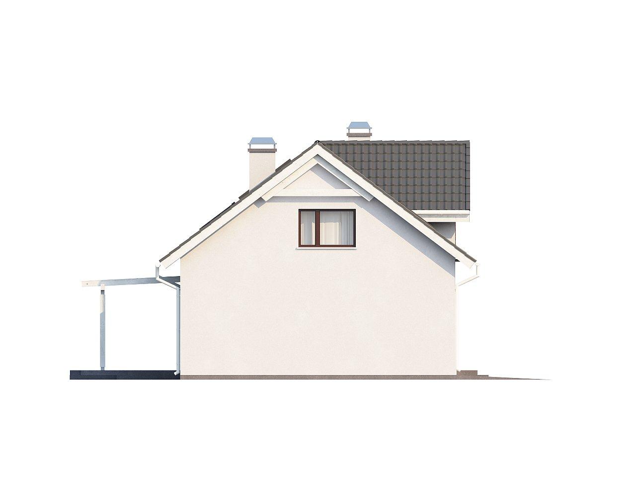 Дом со встроенным гаражом, красивым мансардным окном и вторым светом над гостиной. - фото 12