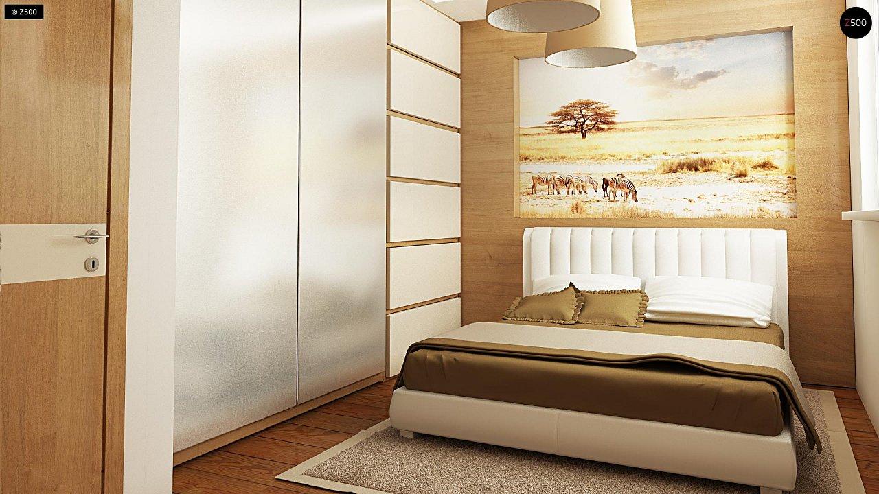 Выгодный компактный одноэтажный дом с угловым окном в кухне. 13