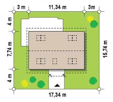 Компактный дом с мансардой и большой террасой на первом этаже план помещений 1