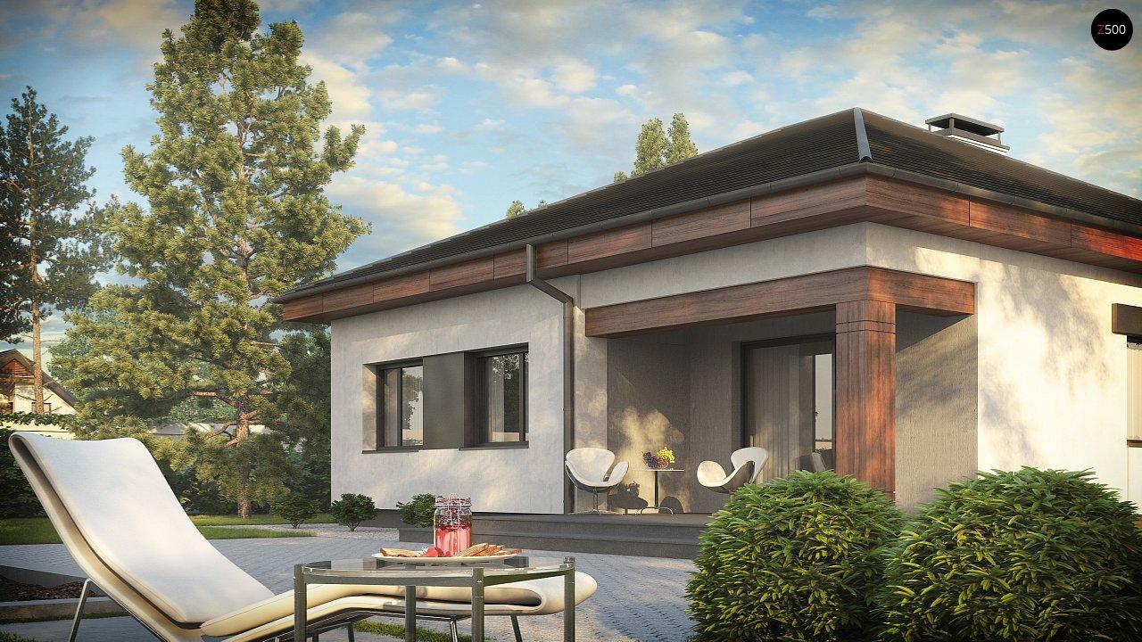 Проект стильного одноэтажного дома в классическом стиле. 3