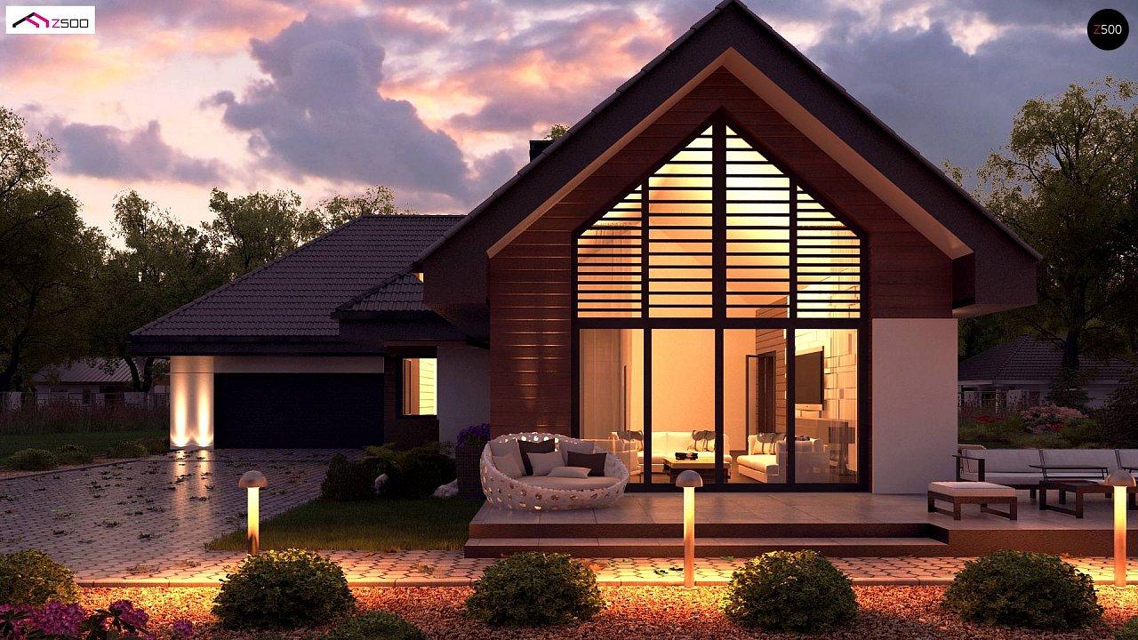 Увеличенная версия Z402 одноэтажный дом с гаражом на два автомобиля - фото 6