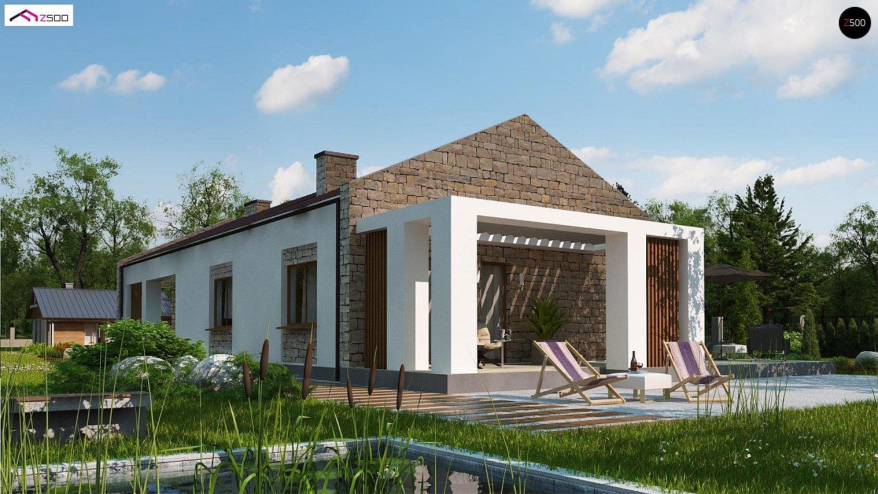 Проект для узкого участка без гаража с тремя спальнями 2