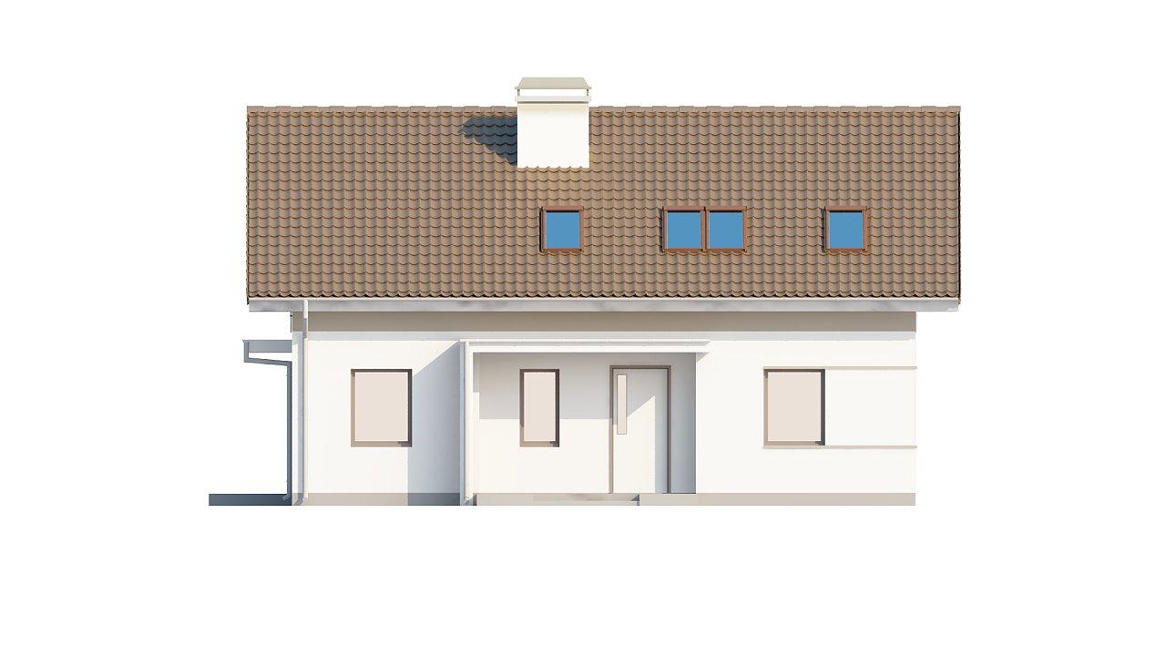 Проект простого и аккуратного дома с дополнительной ночной зоной на первом этаже. 12