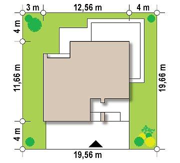 Двухэтажный коттедж современного лаконичного дизайна план помещений 1
