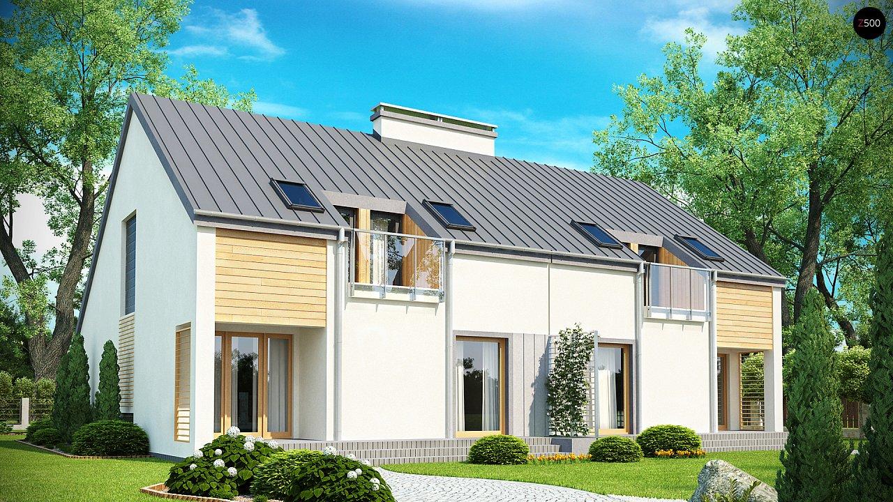 Проект стильного, функционального и недорогого двухсемейного дома. 2