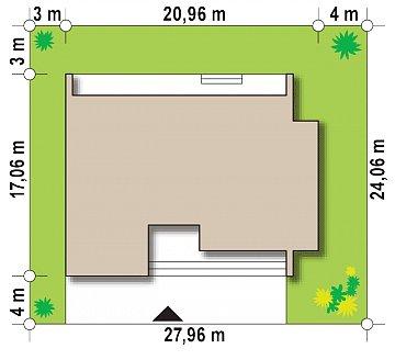 Современный дом с 4 спальнями, гаражом на 2 машины и большими окнами план помещений 1