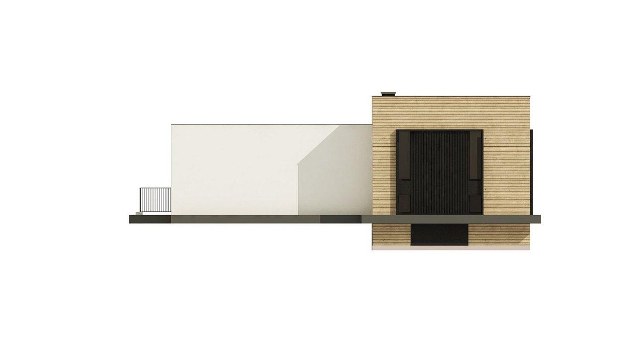 Проект современного дома с плоской кровлей и подземным гаражом. 8