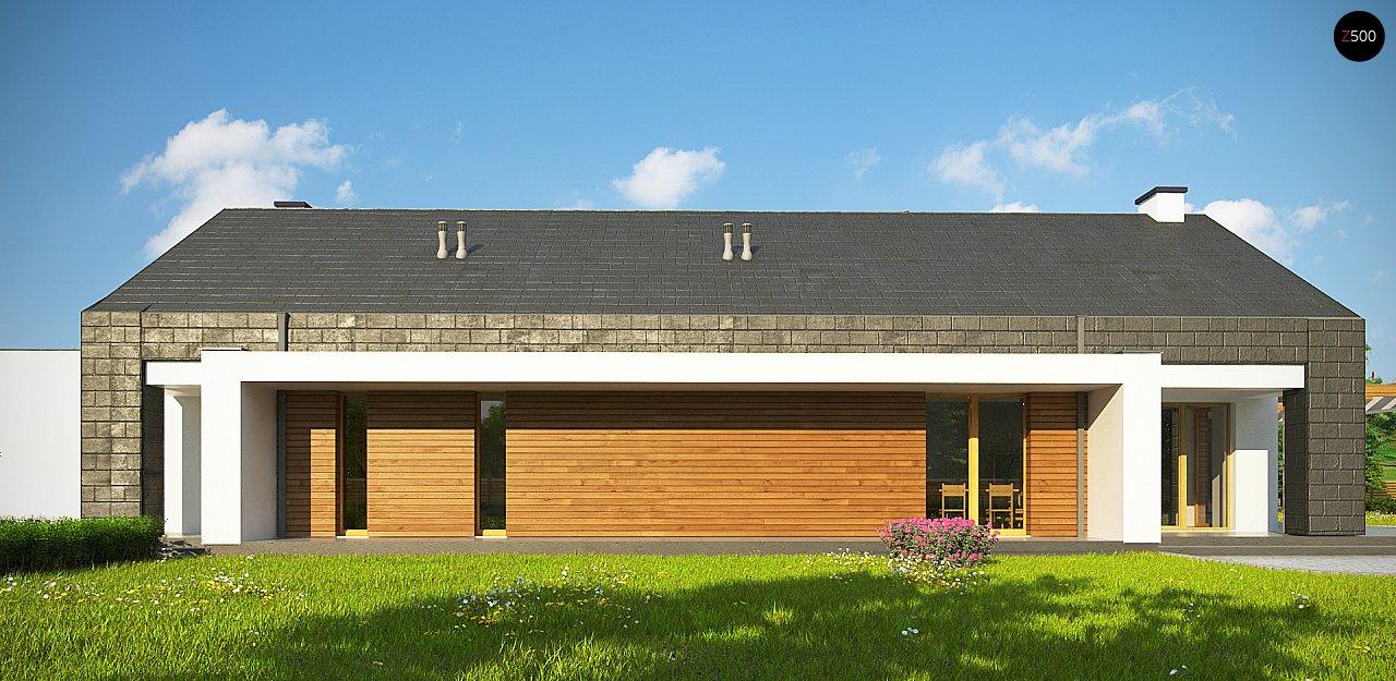 Современный дом с двускатной крышей на узком участке - фото 9