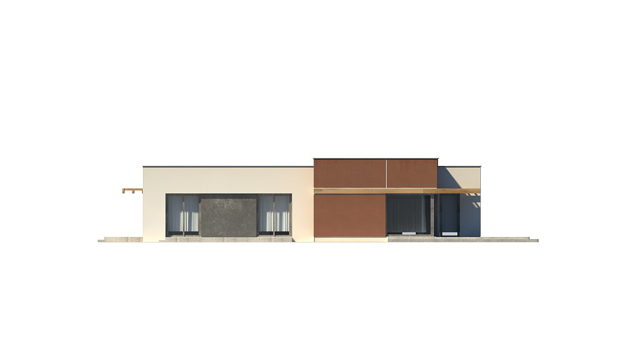 Одноэтажный дом в стиле хай-тек с четырьмя спальнями. - фото 30