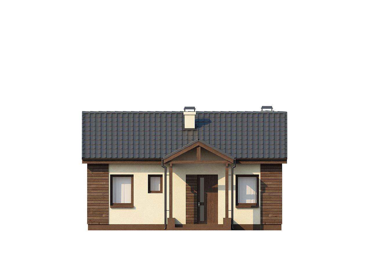 Маленький одноэтажный дом с двускатной кровлей, недорогой в строительстве и эксплуатации. - фото 14