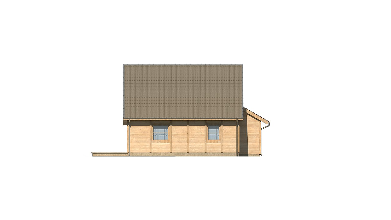 Вариант проекта Z39 c деревянными фасадами и гаражом расположенным с левой стороны. 15