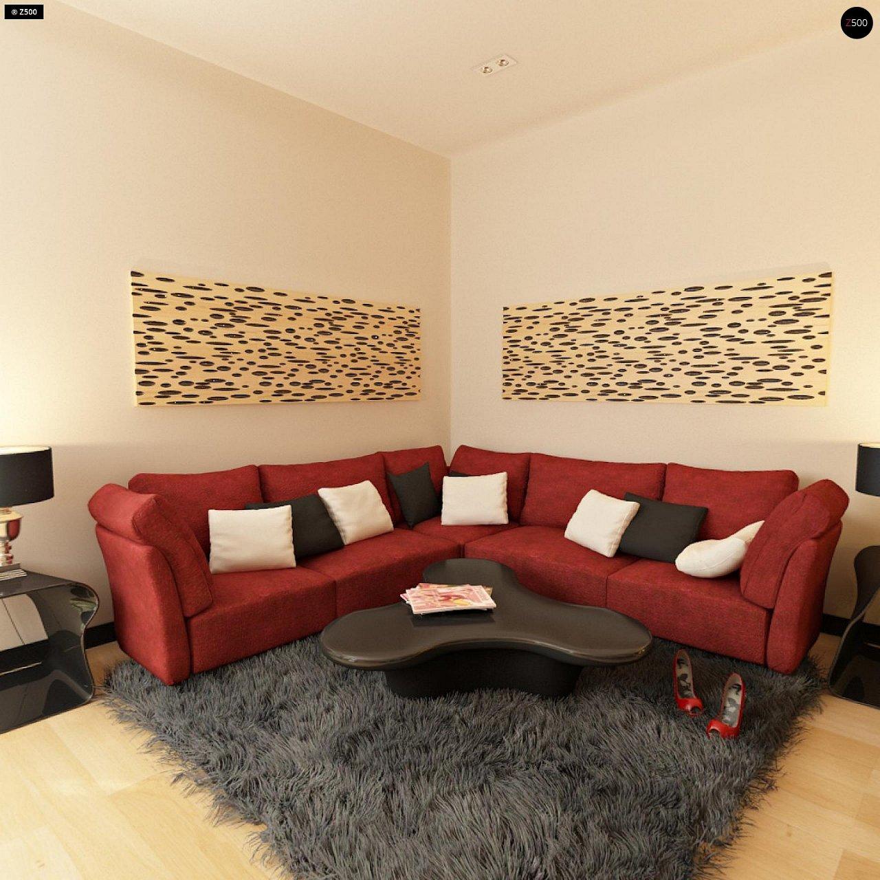 Вариант двухэтажного дома Zx24a с плитами перекрытия 9