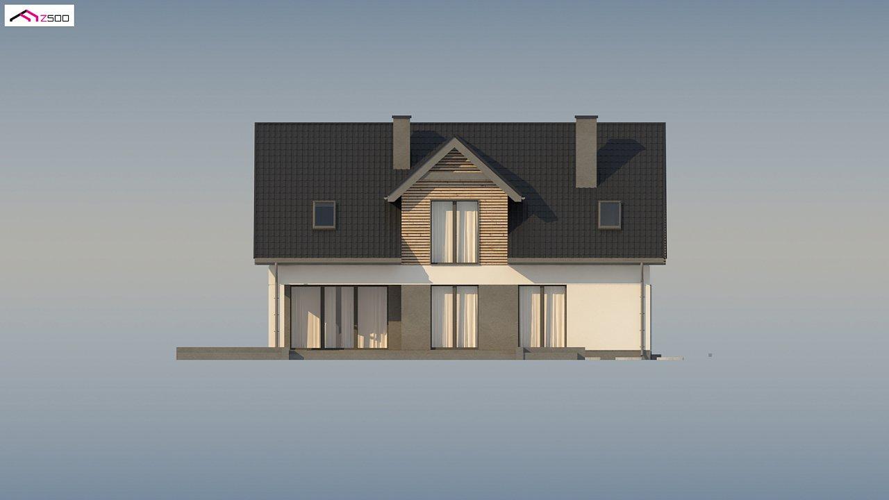Стильный и аккуратный мансардный дом с гаражом для двух машин. 8