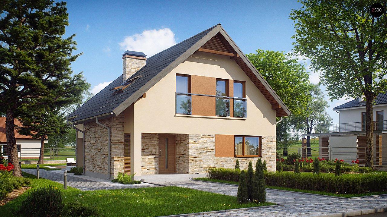 Проект аккуратного и удобного дома с мансардой. - фото 1