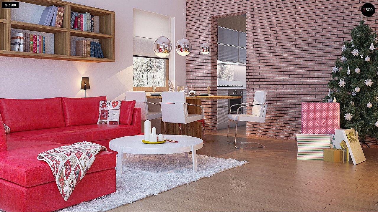 Компактный, уютный одноэтажный дом с двускатной крышей. 9