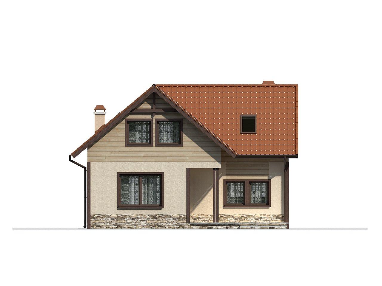 Дом для узкого участка с дополнительной спальней на первом этаже и кухней со стороны сада. 4