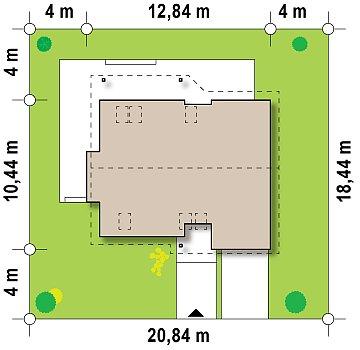 Практичный дом с мансардой, гаражом, кабинетом на первом этаже и стильным эркером. план помещений 1