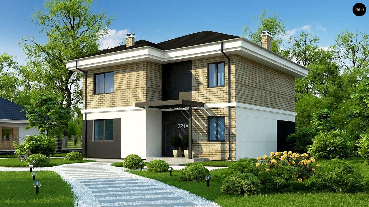 Двухэтажный дом с современным дизайном экстерьера и удобным интерьером - фото 1