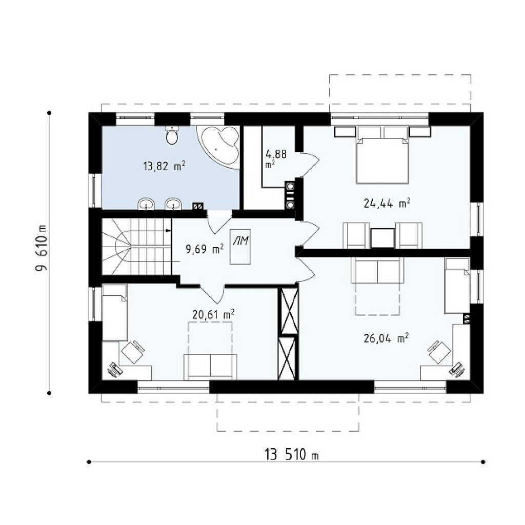 Новая версия адаптированного проекта дома zx11 план помещений 2