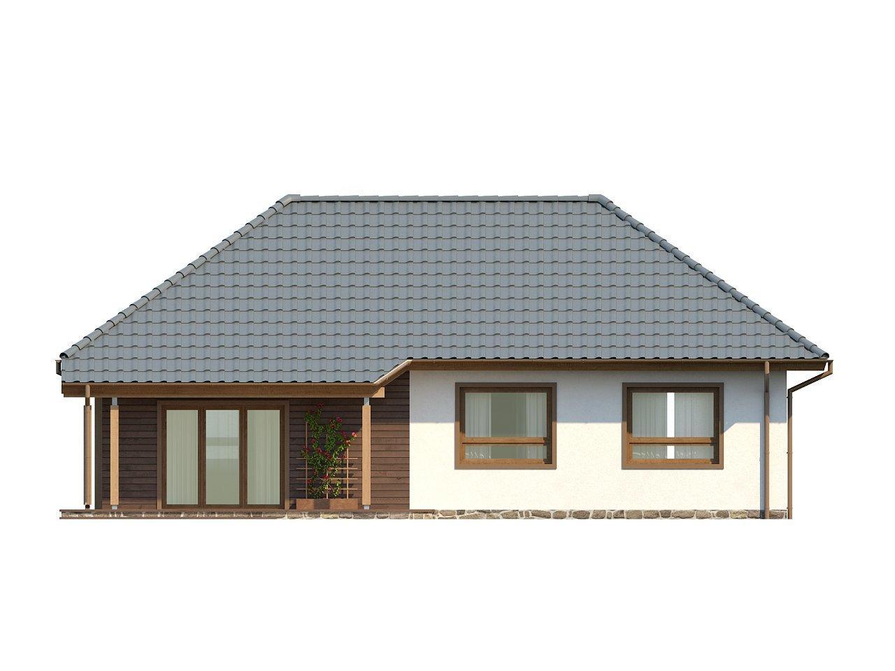 Проект практичного одноэтажного дома в традиционном стиле. 15