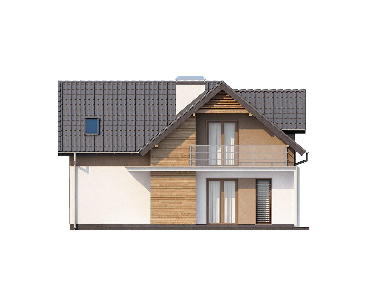 Проект удобного функционального дома с мансардой и гаражом  6