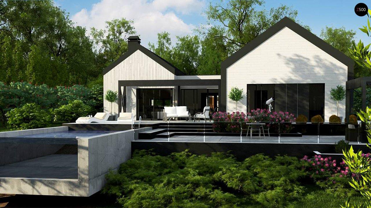 Одноэтажный дом состоящий из двух частей. - фото 2