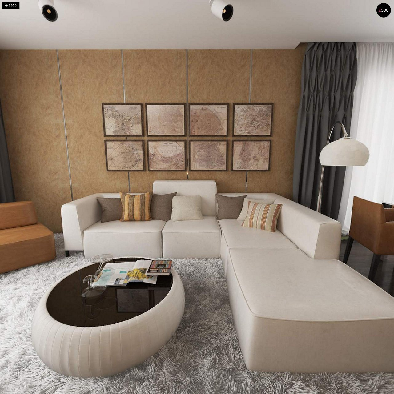 Проект удобного одноэтажного дома с гаражом для двух автомобилей и большим хозяйственным помещением. 8