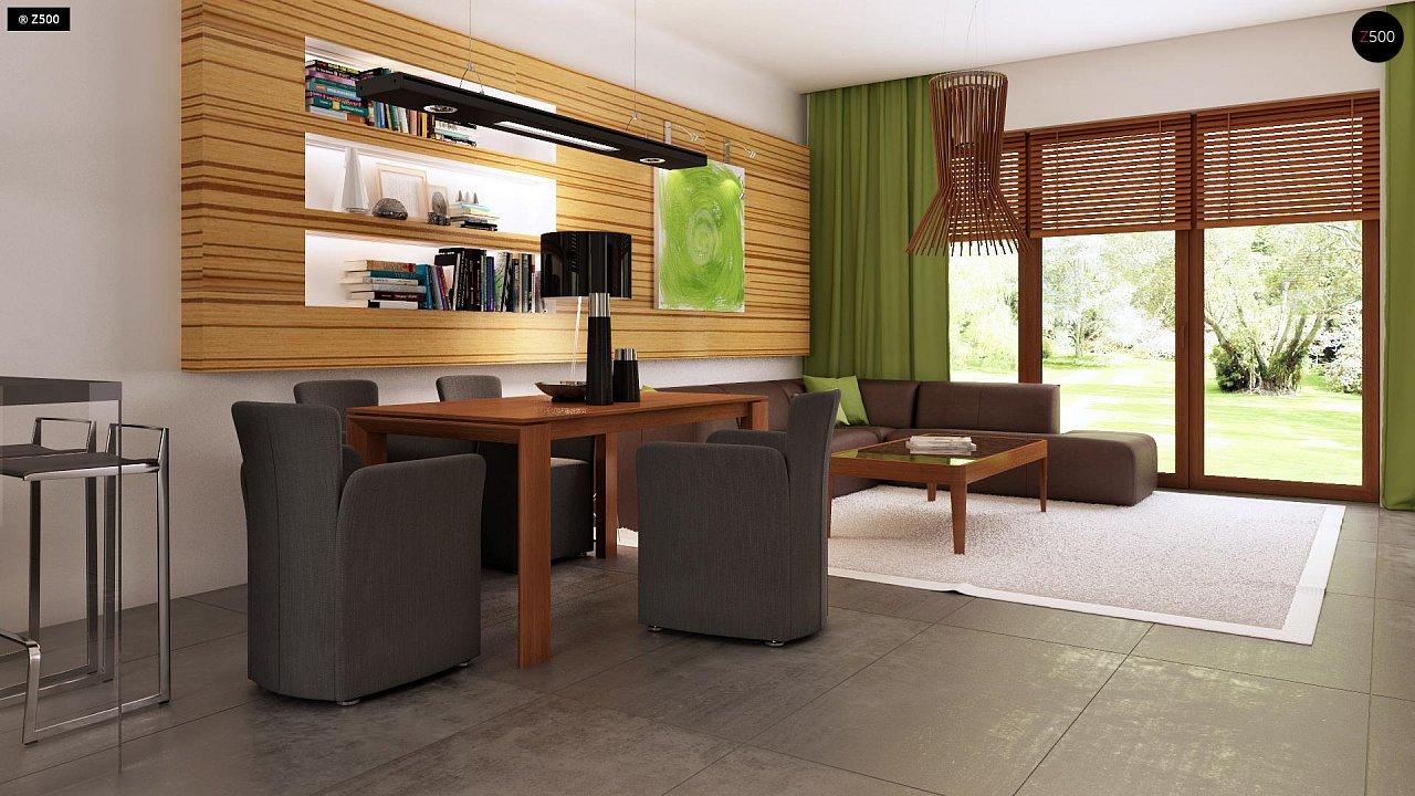Проект одноэтажного практичного и уютного дома с крытой террасой. 8