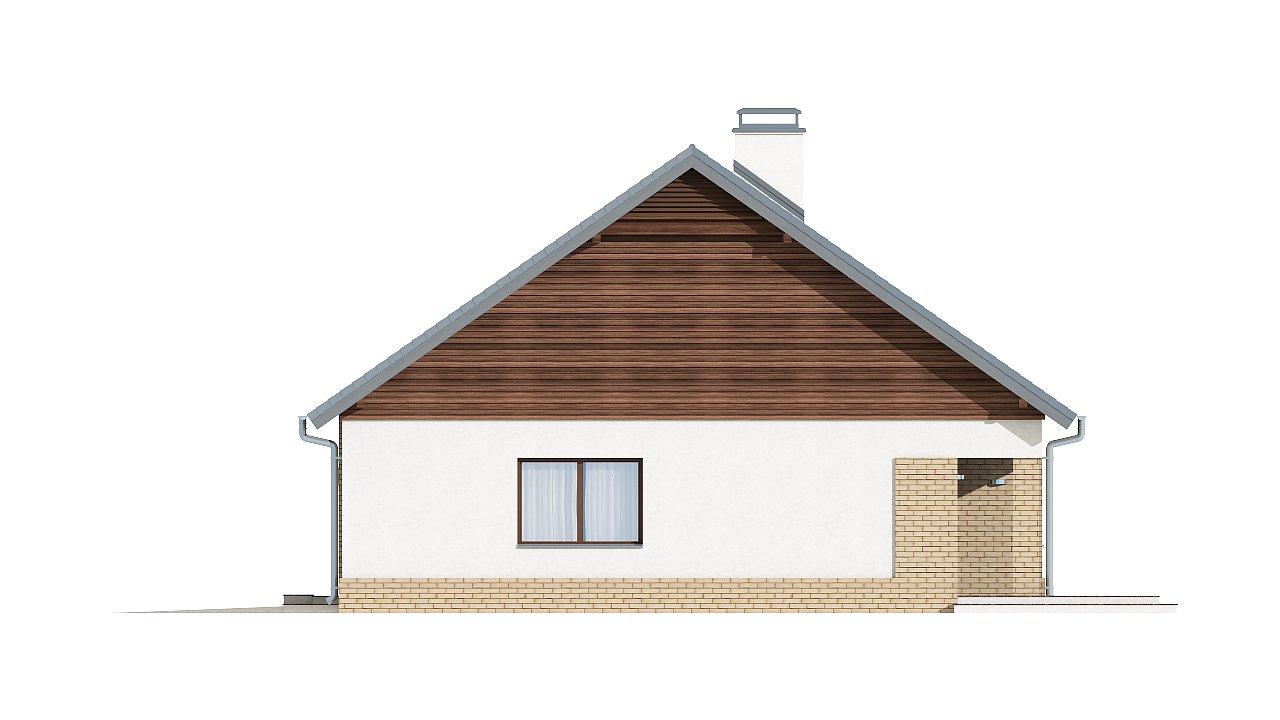 Проект традиционного одноэтажного дома с возможностью обустройства мансарды. 15