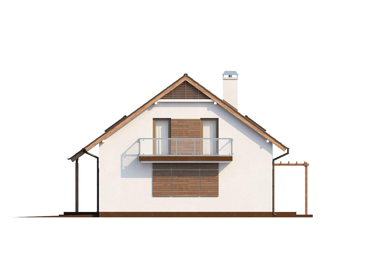 Практичный дом с мансардой, встроенным гаражом и дополнительной спальней на первом этаже. - фото 6