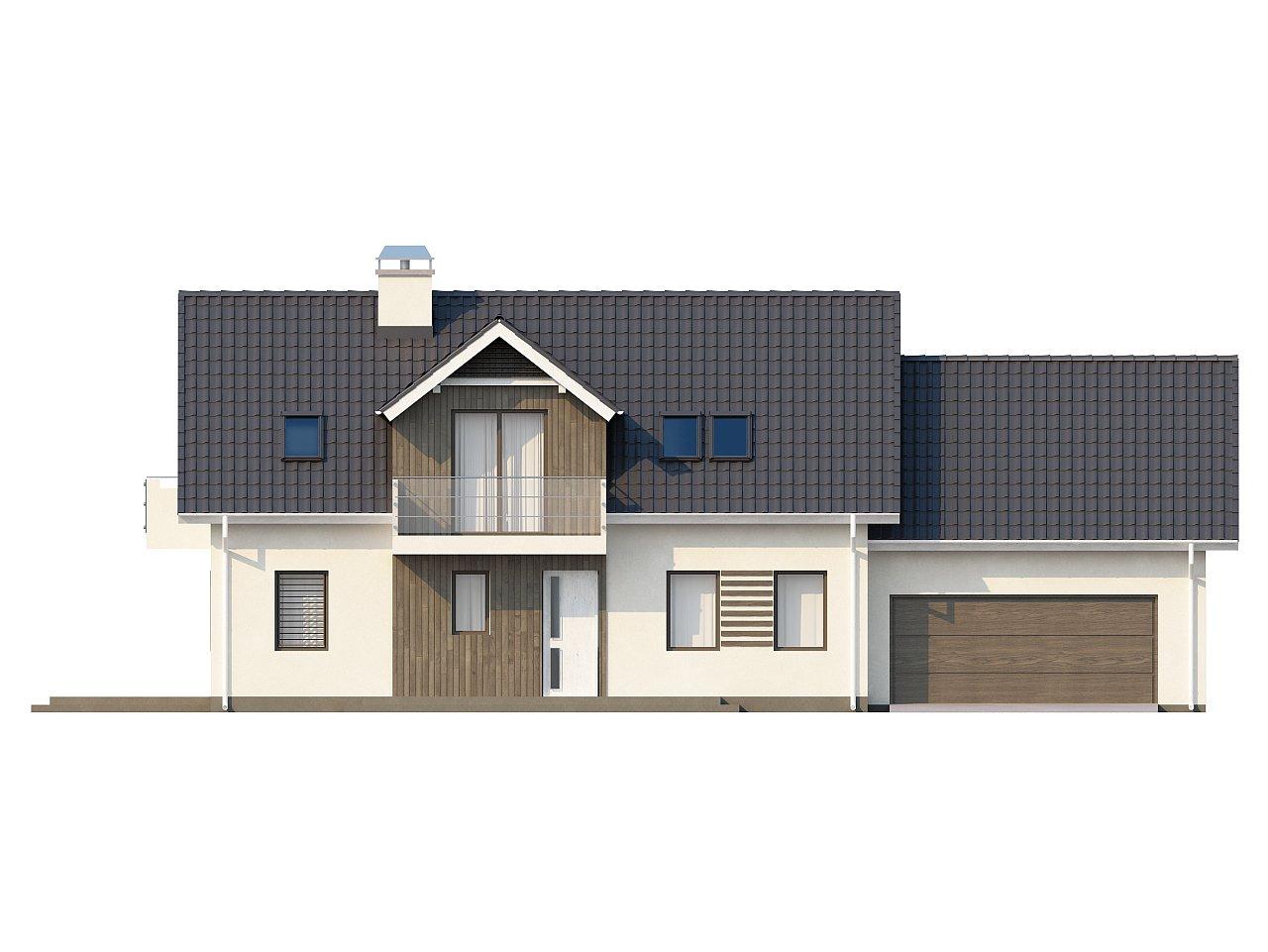 Просторный функциональный дом с гаражом, красивыми мансардными окнами и дополнительной спальней на первом этаже. - фото 3