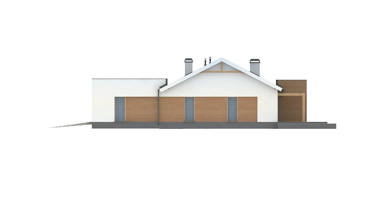 Комфортный функциональный одноэтажный дом простой формы и с гаражом для двух авто. 14