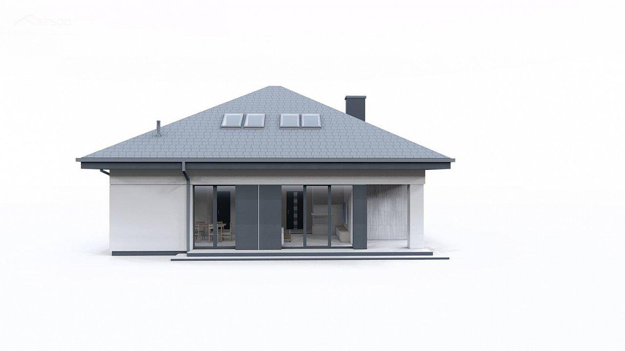 Дом с мансардой, 4-х скатной кровлей и гаражом на одну машину. 7