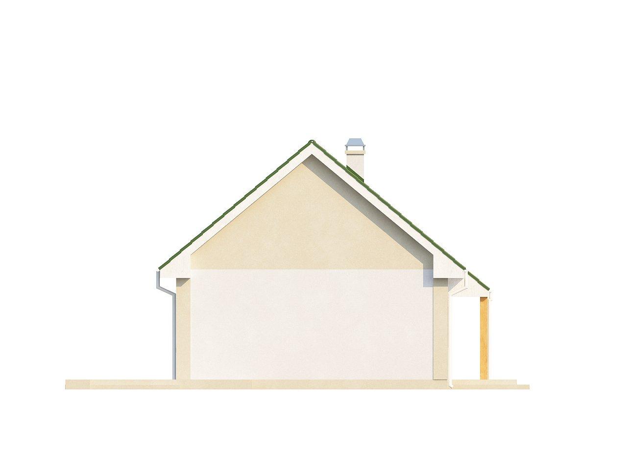 Простой в реализации дом с двускатной крышей, с возможностью обустройства мансарды. 18