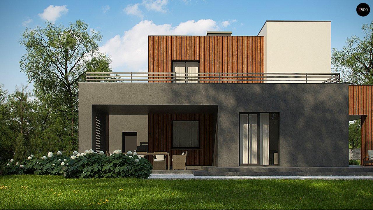 Современный дом с гаражом на 2 машины и террасой на первой 6